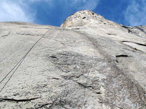 Looking up from the base of El Cap