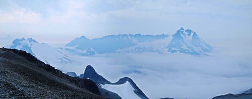 Icy and Shuksan from Ruth Mountain