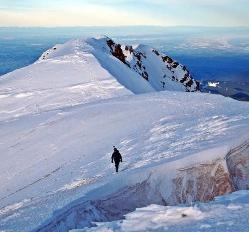 Kevin nearing the summit of Mt. Hood