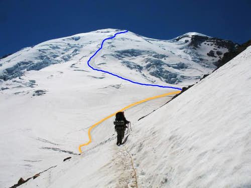Route to Schurman and Summit