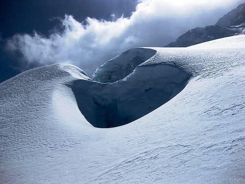 Ice formations on Huascarán