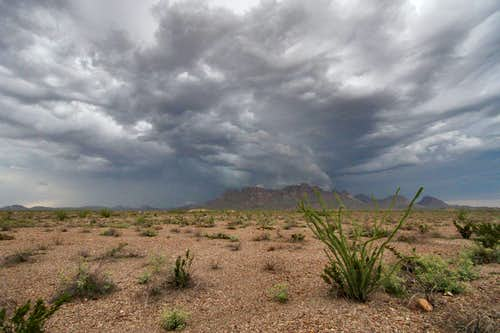 Storm over the Chisos Mountains