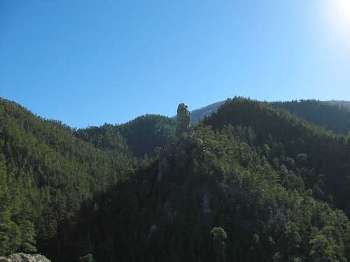 Chimney Rock from a rock...