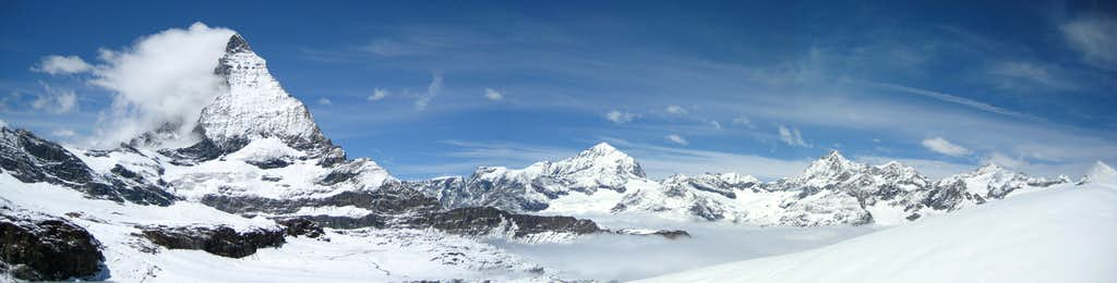 Panoramic view of Obergabelhorn