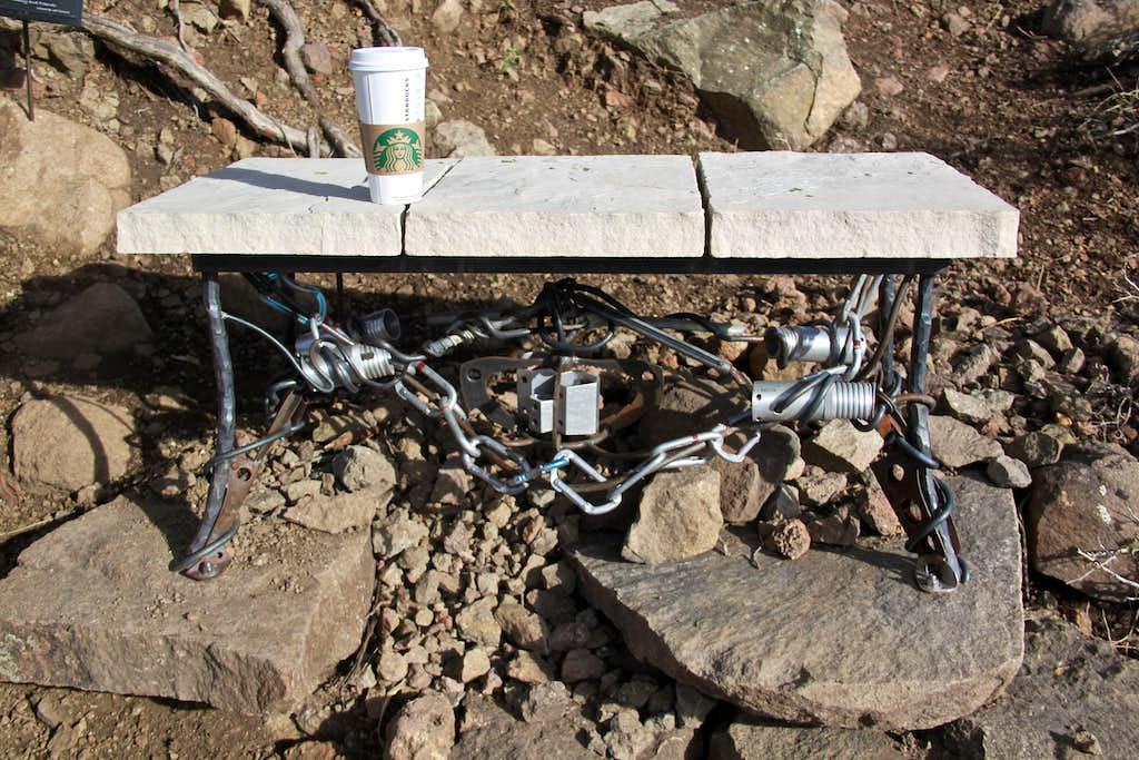 Bench dedicated to Craig Luebben