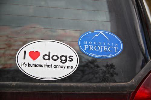 Lovely car sticker