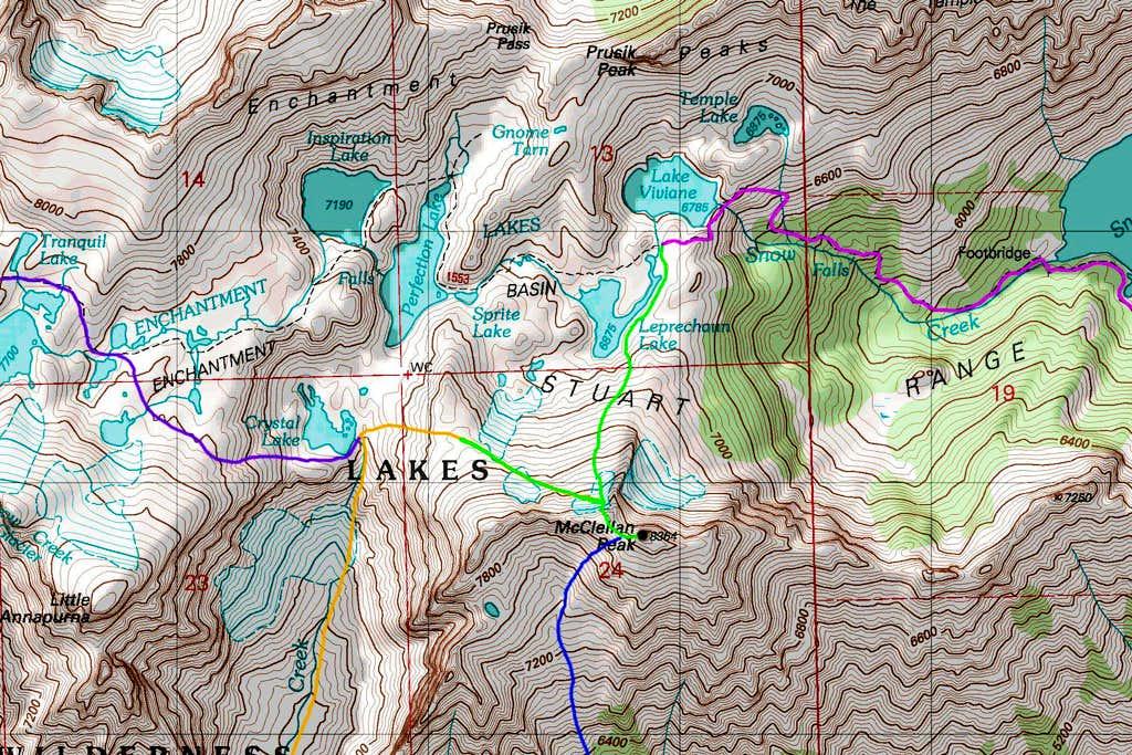 McClellan Peak North Map