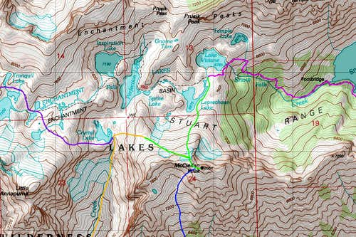 McClellan Peak North Map
