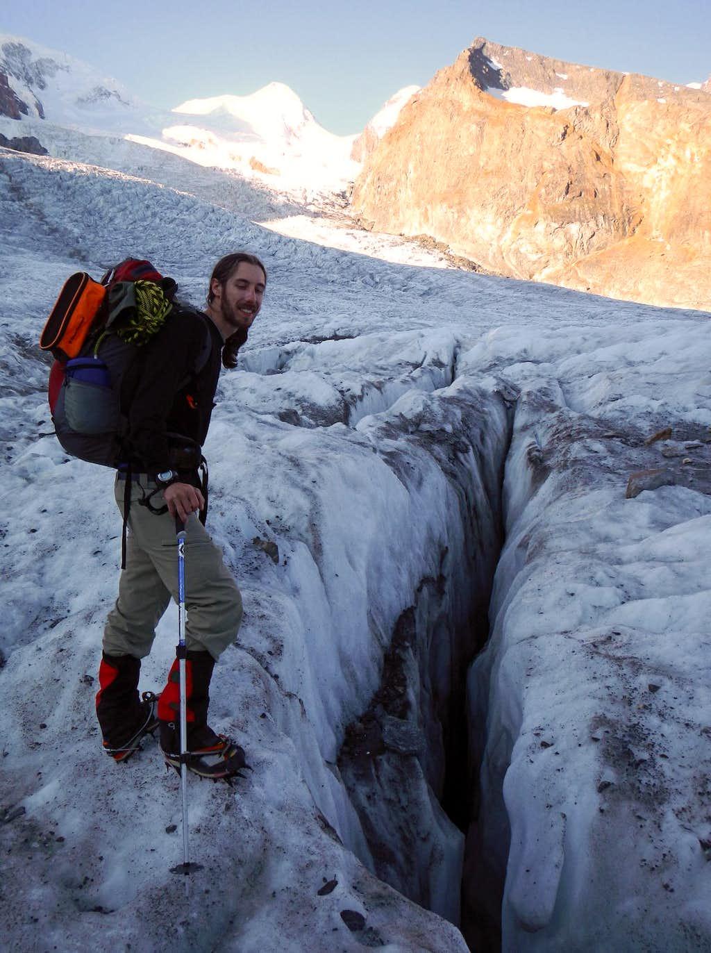 Castor Above - Crevasse Below