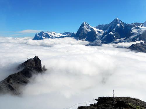 Sea Of Clouds On Schilthorn