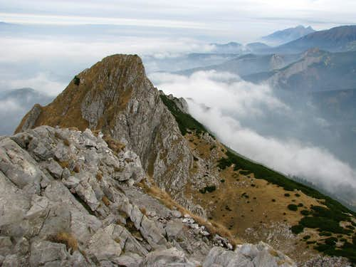 Długi Giewont from Giewont