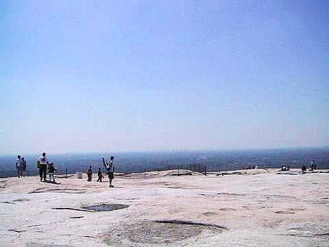 From the top of Stone Mtn,...