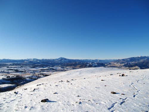 Yellowstone National Park-The Gallatin Range in winter