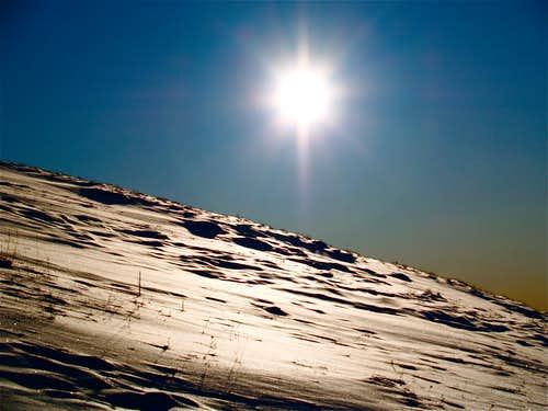 Setting sun in the Gallatin Range-Yellowstone National Park