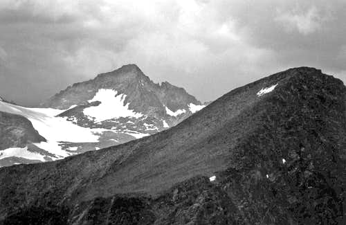 Mt. Maclure and Blacktop Peak from Mt. Wood