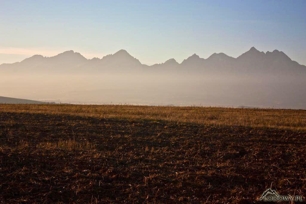 High Tatras from Spis highlands