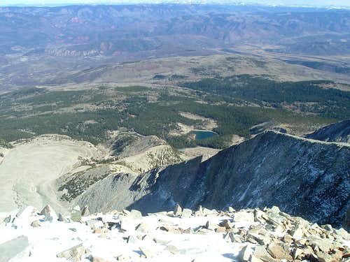 Thomas Lakes from the Summit of Mt Sopris East