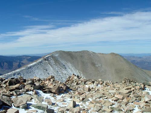 Mt Sopris West from the Summit of Mt Sopris East