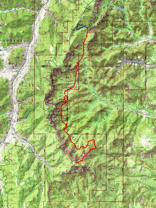 Map of Southern Section
