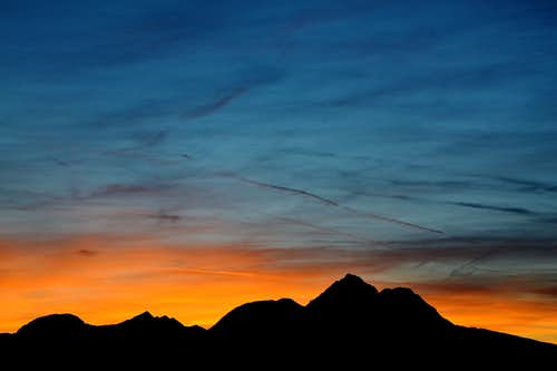 Sunset over Hochstaufen, Zwiesel and the Chiemgau Alps