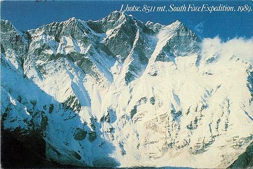 Lhotse South Face Expedition 1989
