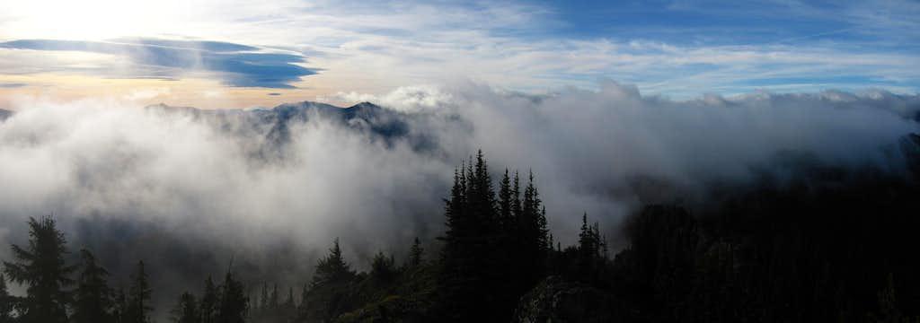 Goat Peak summit Panorama