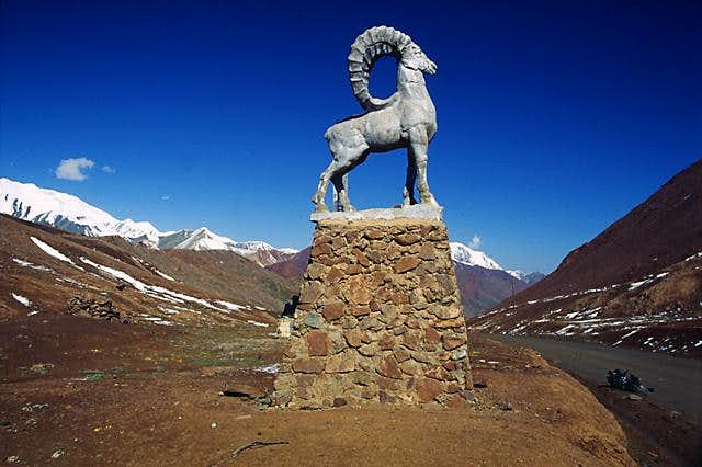 The statue on the border of...