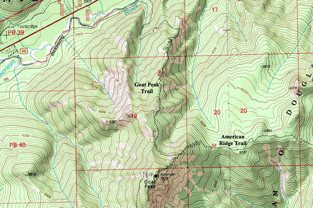 Goat Peak Map