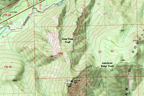 Goat Peak Map