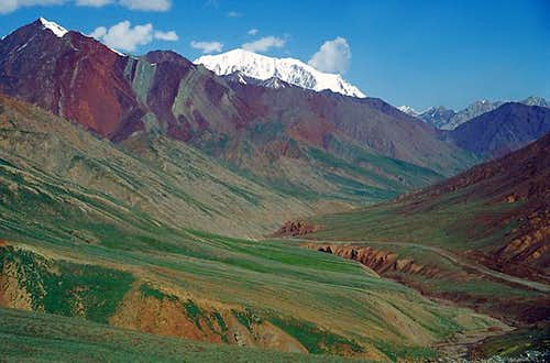 Colorful mountain scenery,...