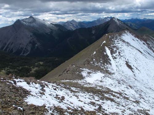 Mount Wright and South Peak of Corrugate Ridge