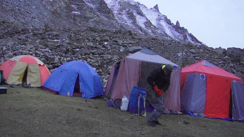 Base camp in  autumn