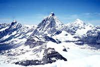 Dent d'Herens - Matterhorn - Dent Blanche