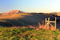 Bolinas Ridge with old cattle fencing