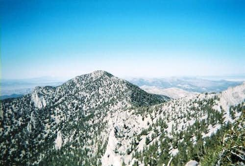 A view of Duckwater Peak and...