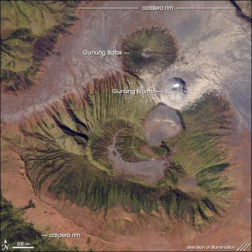 Bromo as seen from Space.