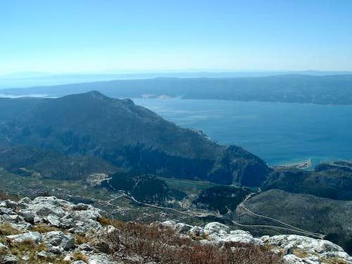 View from Kozik towards...