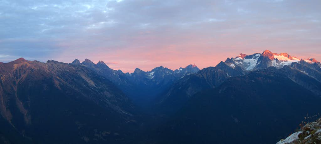 Mount Logan Sunset Panorama