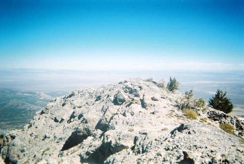 The summit of Troy Peak.