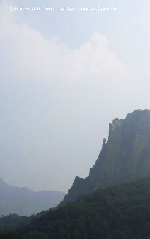 A Knife-Edge Ridge near Guoliang and Nanping