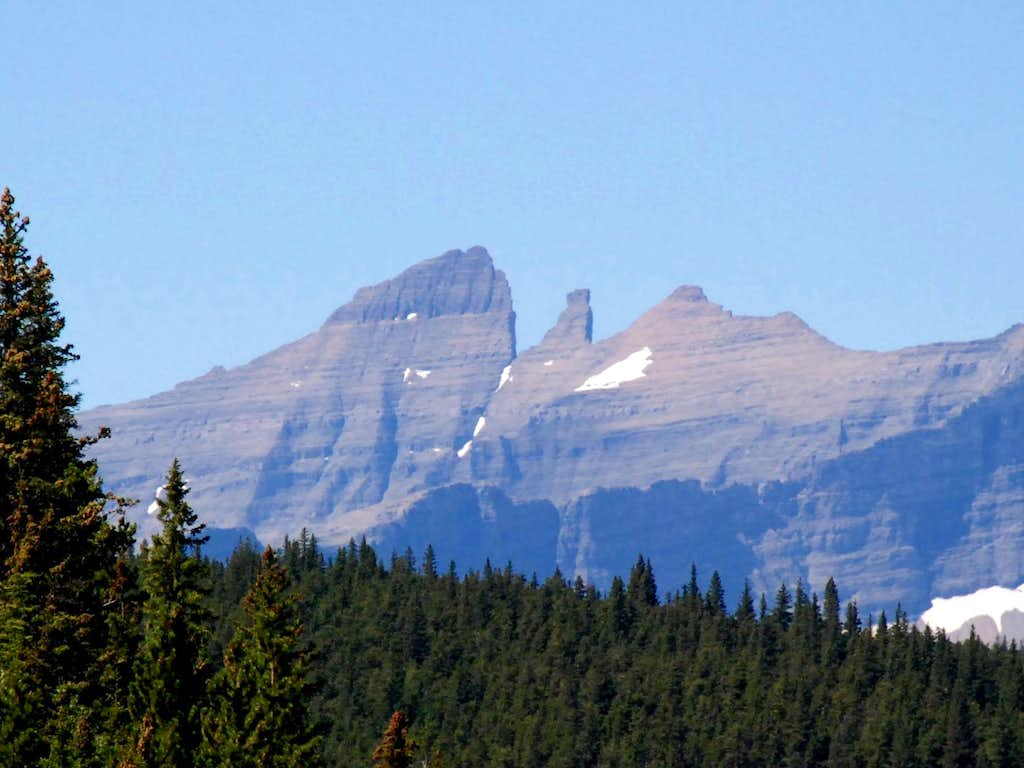 East Face of Stoney Indian Peaks