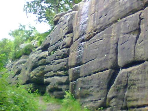 Unclimbed Wall,Harrisons Rocks,Southern Sandstone,UK.