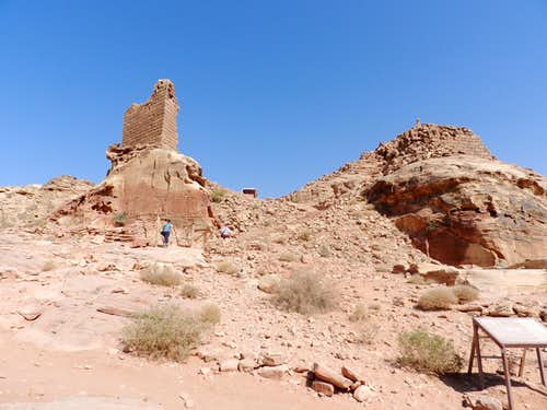 Ruins from the col