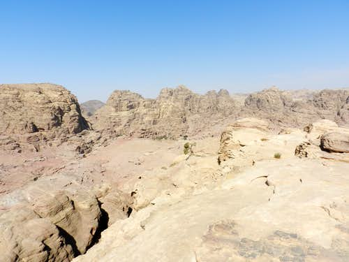 Petra from the summit