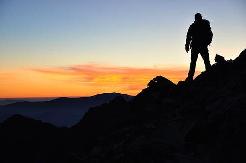 Climber after Sunset