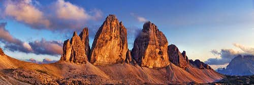Tre Cime at sunset