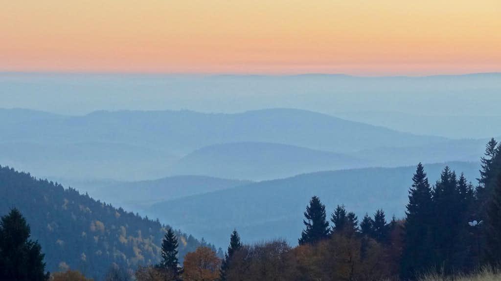 Southern panorama at dusk