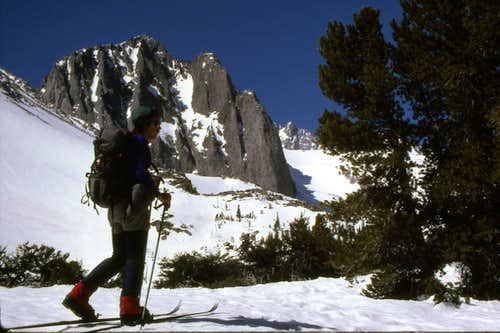 Skiing in to the Palisades - Sierra Nevada, CA