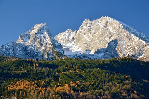 Watzmann and larches