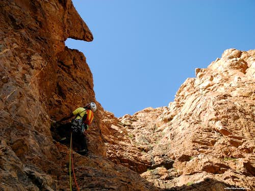 Rock climbing in upper Samazar